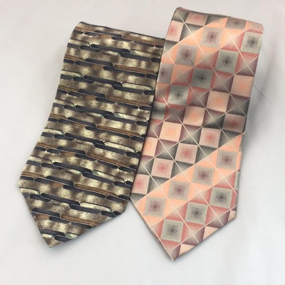 croft & barrow Other - Croft & Barrow Men's Silk Tie Lot of 2